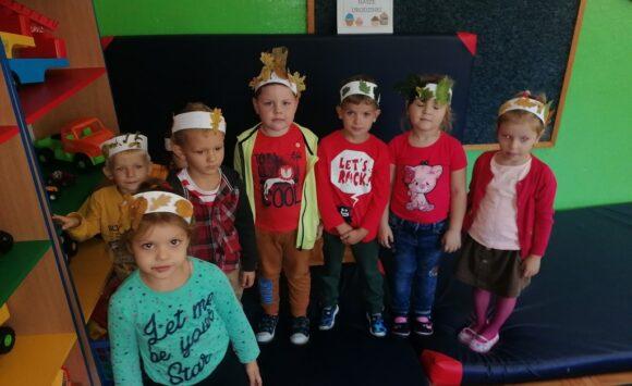Dziś w przedszkolu witaliśmy Panią Jesień
